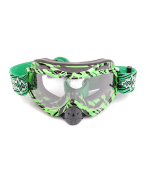 RNR Hybrid Tear Off Goggles – Black/Green