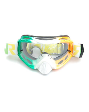 RNR Hybrid Tear Off Goggles – Irish Flag