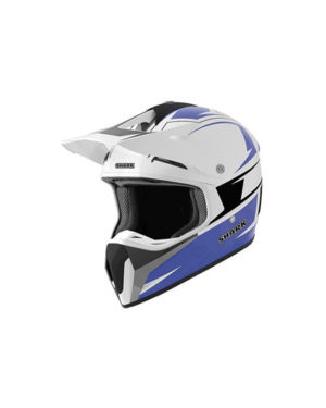 Shark SXR Motocross Helmet White Blue