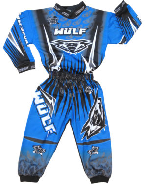 Attack Toddler Suit 1-2yrs Blue/White/Black