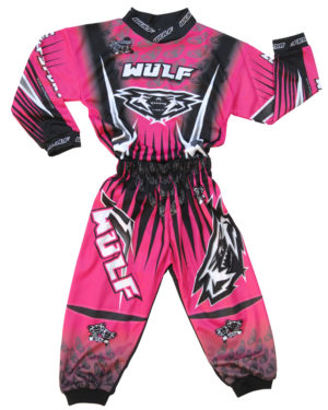 Attack Toddler Suit 1-2yrs Pink/White/Black