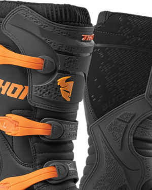 Thor Blitz XP Boot – Adult – Charcoal/Orange UK10