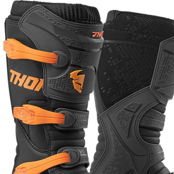 Thor Blitz XP Charcoal-Orange Upper View